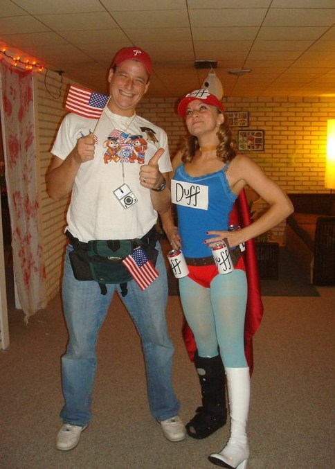 duff woman duffman halloween costume - Homemade Men Halloween Costumes