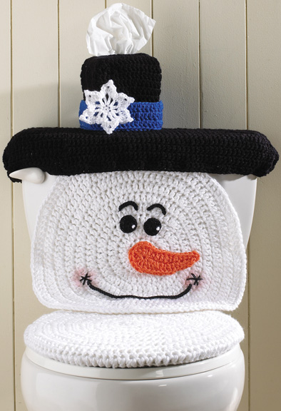 crochet bathroom covers winter