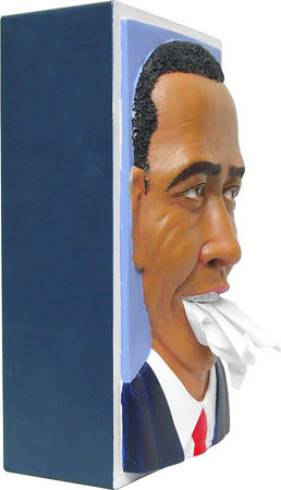Obama tissue box cover