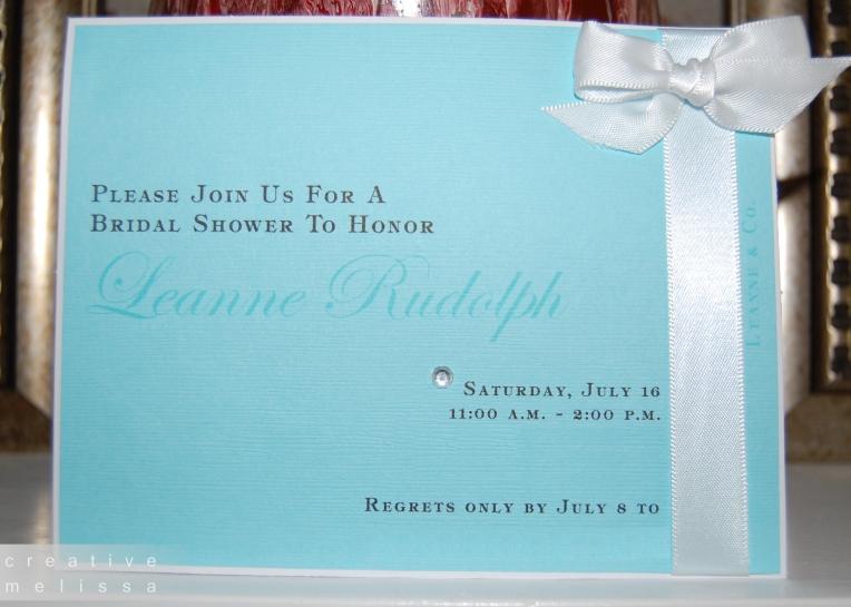Tiffany and company bridal shower brunch invitations
