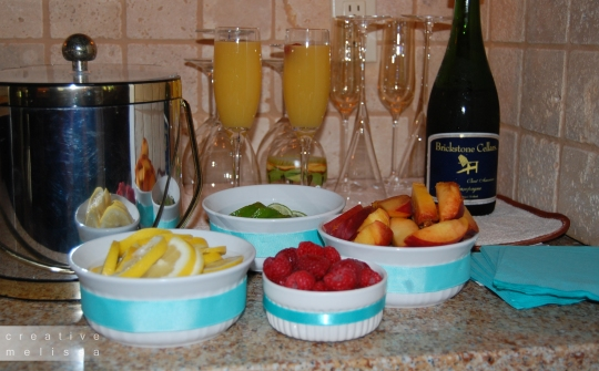 brunch bar mimosas and bellinis