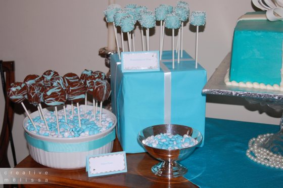 tiffany & co party desserts and cake