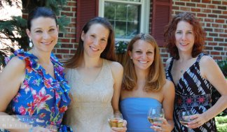 bridal shower girls teal summer