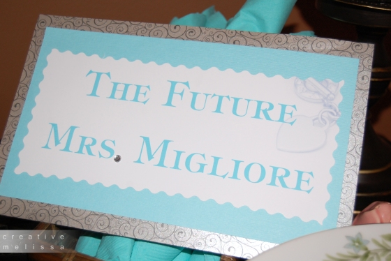 bridal shower teal rhinestone event