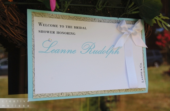 welcome to bridal shower sign tiffany and company