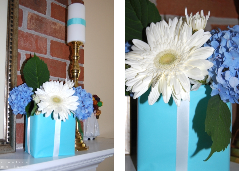 Tiffany and company party centerpiece