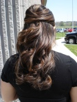 bump hair loose curls wedding