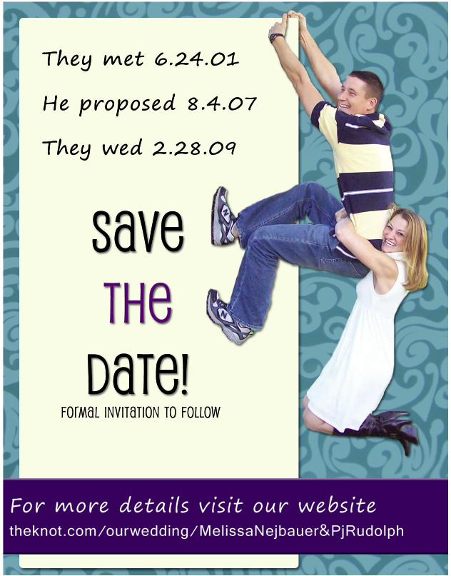 Save the date design final choice picture
