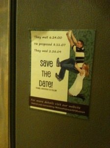 save the date magnet creative design