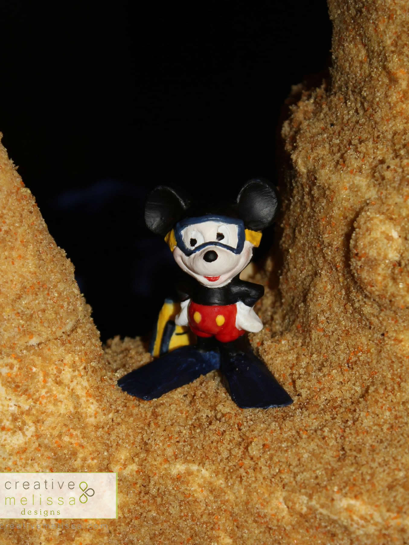 Squba diving mickey mouse for sand castle cake