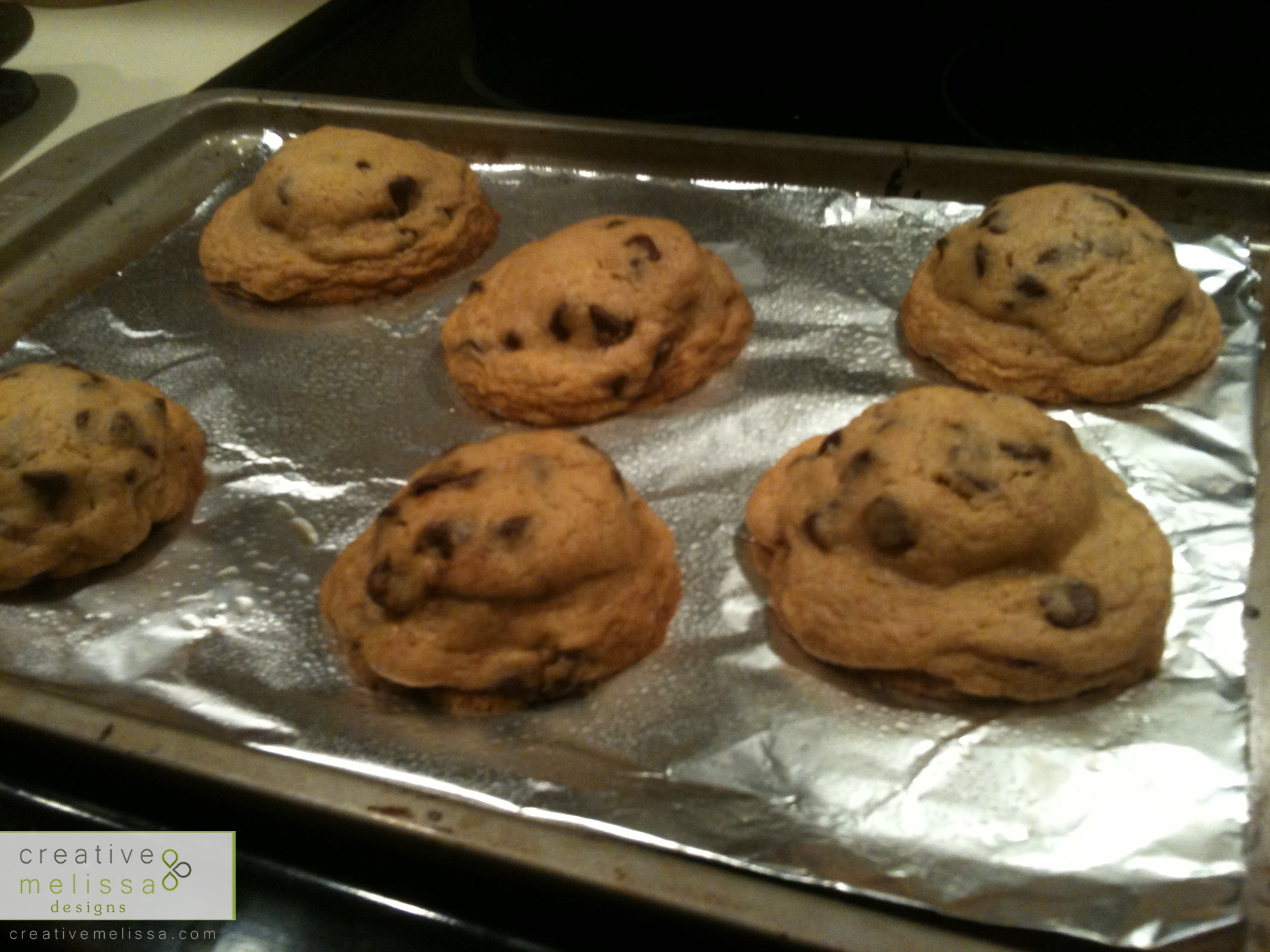 cookie sheet stuffed chocolate chip cookies