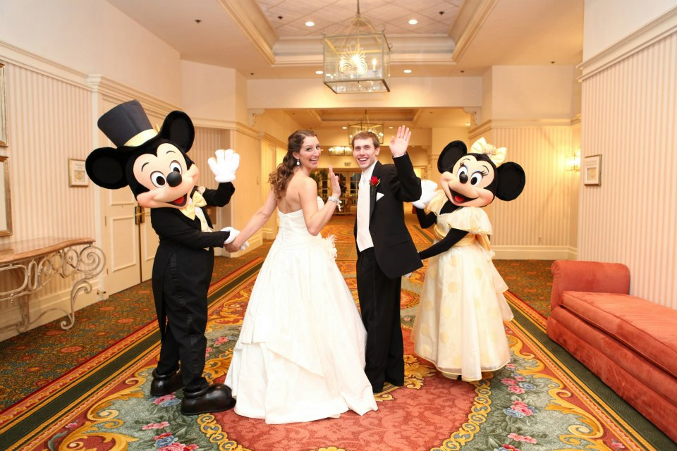 mickey and minnie bride and groom wedding january florida