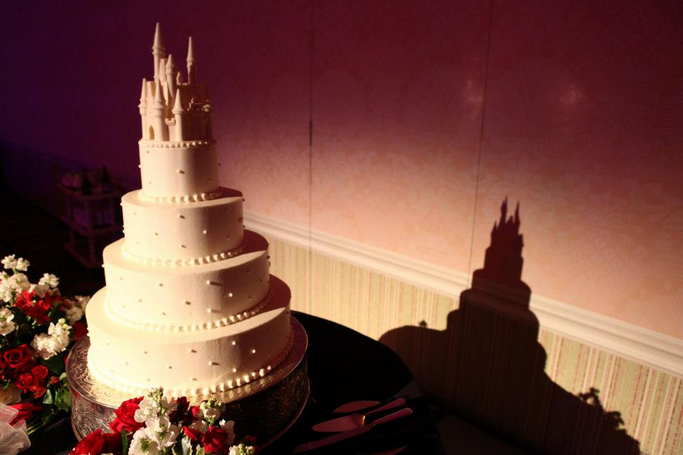 castle wedding disney world cake white