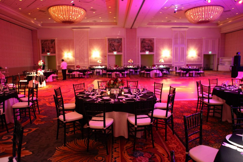 reception disney ballroom winter wedding