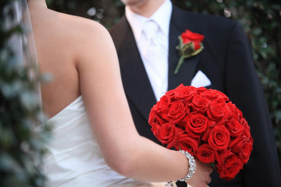 red rose bouquet full large wedding