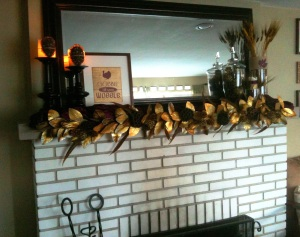 turkey day mantle decorations