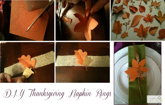 do it yourself burlap napkin ring