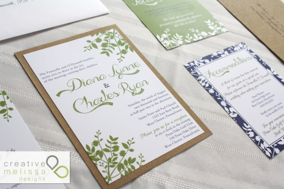 Diana and Ryan - CREATIVE MELISSA DESIGNS - wedding invitation 2014
