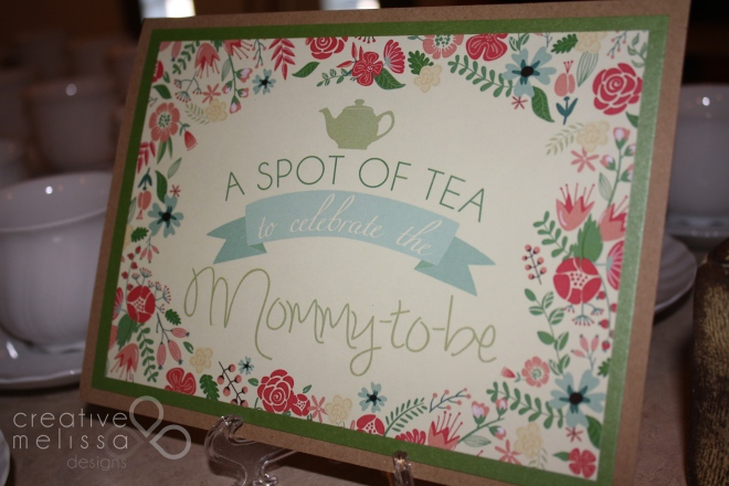 Baby shower tea party sign