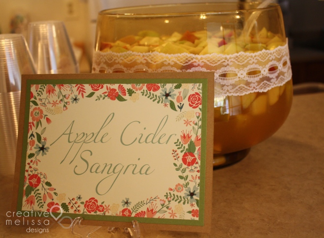 Apple cider sangria brunch shower