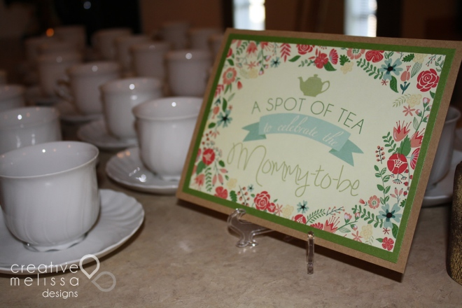 A spot of tea mommy to be sign
