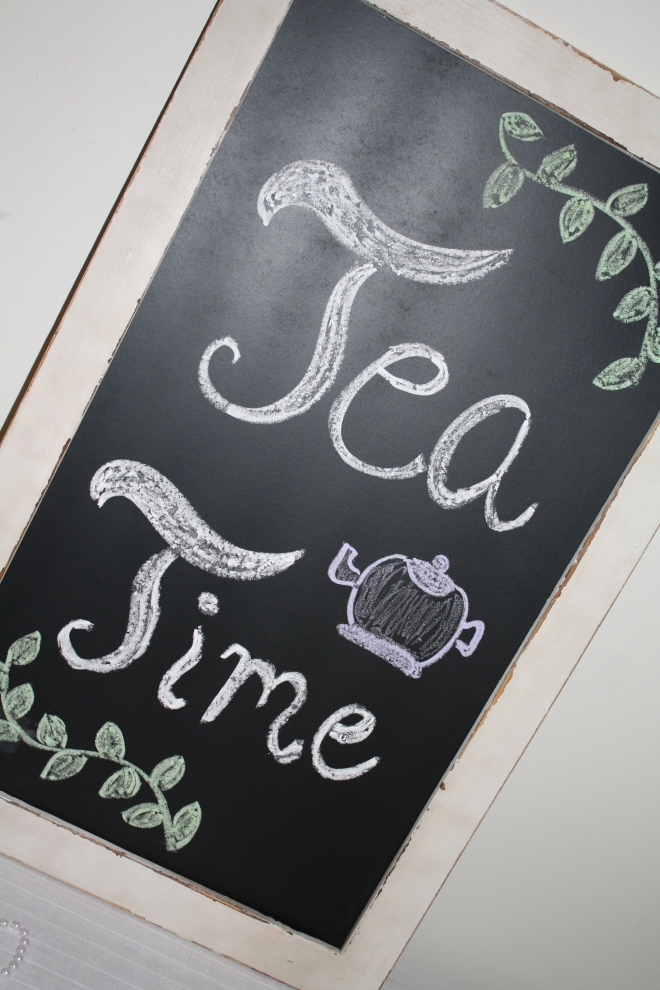 Tea Time chalkboard sign