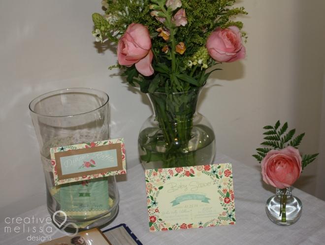 pink roses garden vintage baby shower